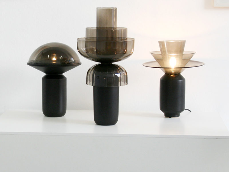 Dome light, Shade lamp and Ninfea vase, Matteo Zorzenoni, Kissthedesign Gallery