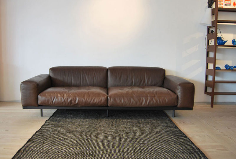 Canapé 216 cm en cuir