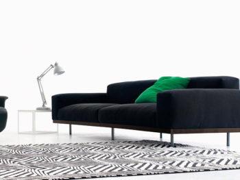 Canapé Naviglio en tissu (Morris), Umberto Asnago, Arflex