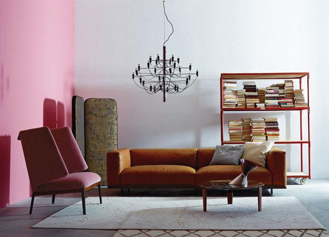 Canapé en cuir, fauteuil Hug, Arflex