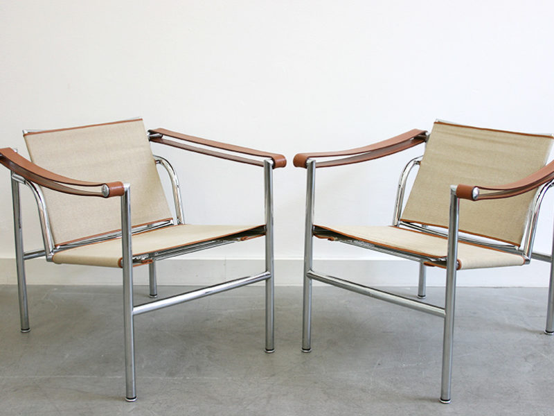 Fauteuils LC1, Le Corbusier, Perriand, Jeanneret, Cassina