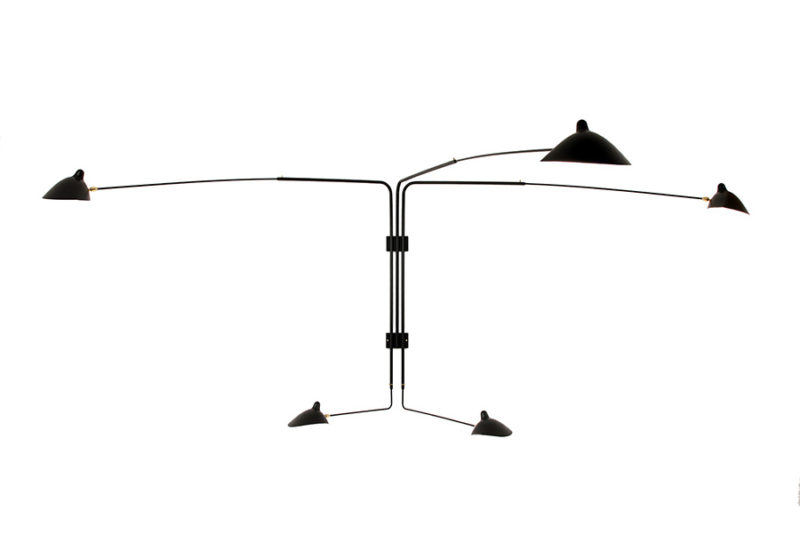 Size, Rotating sconce 5 arms, Serge Mouille