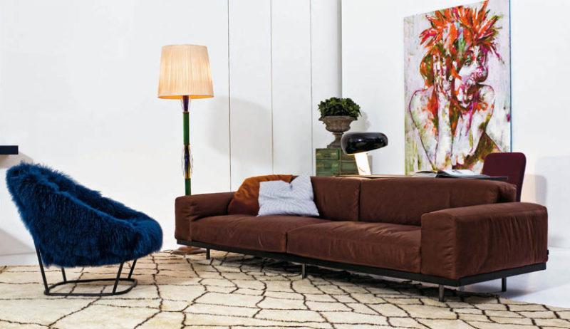 Canapé en cuir, Umberto Asnago, Arflex