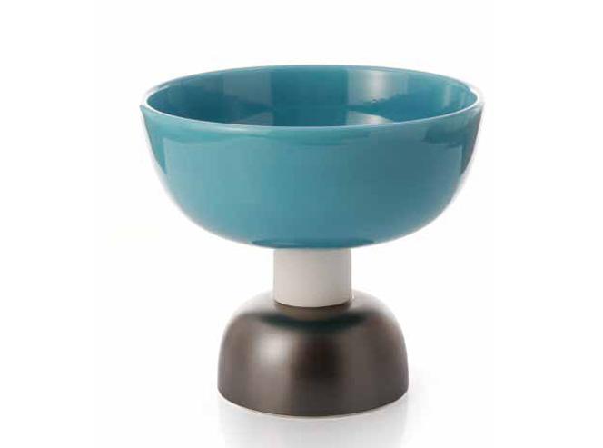 Alzata Grande 543 bowl, Ettore Sottsass, Bitossi ceramic