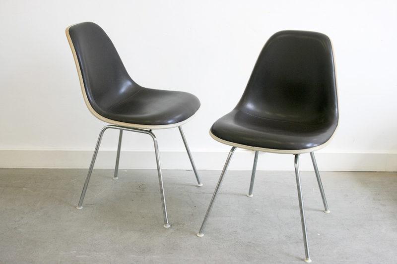 Chaises dsx, vinyle, Eames, Vitra