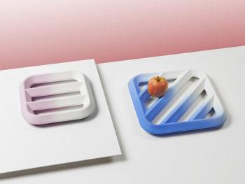 Plat à fruits Grid dégradé, Tomas Kral pour Kissthedesign. Photo © Nicolas Genta