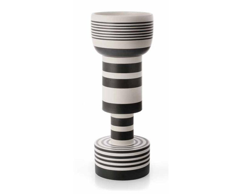 Calice vase, ceramic, Ettore Sottsass, Bitossi