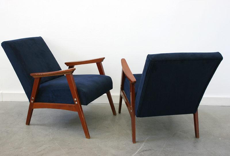 Paire de fauteuils vintage, design italien, années 50