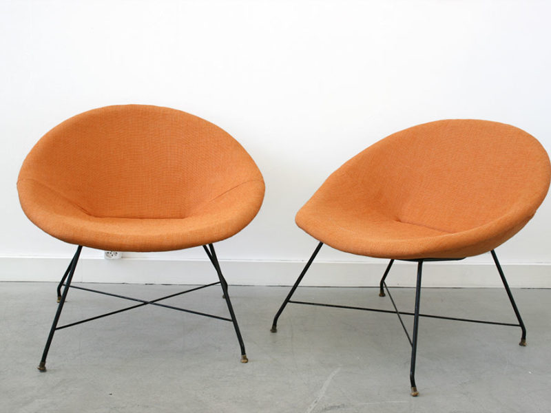 Pair of lounge chairs, Augusto Bozzi, Saporiti