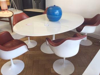 Table et fauteuils tulipe, Saarinen, Knoll