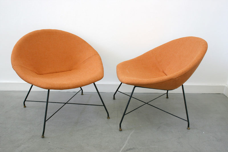 Fauteuils lounge, Augusto Bozzi, Saporiti
