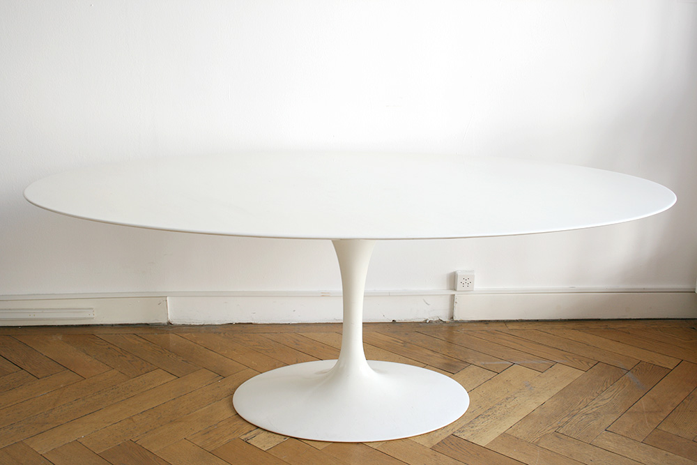 Table tulipe ovale marbre saarinen knoll kissthedesign - Saarinen table ovale ...