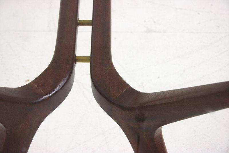 Vintage Tisch, italienisches Design aus den 50er Jahren, in der Art von Ico Parisi