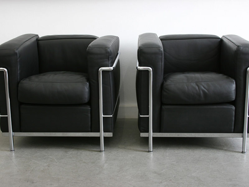 LC2 chairs, Le Corbusier, Pierre Jeanneret, Charlotte Perriand, Cassina