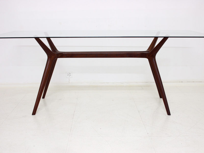 Table vintage, design italien dans le goût d'Ico Parisi, années 50