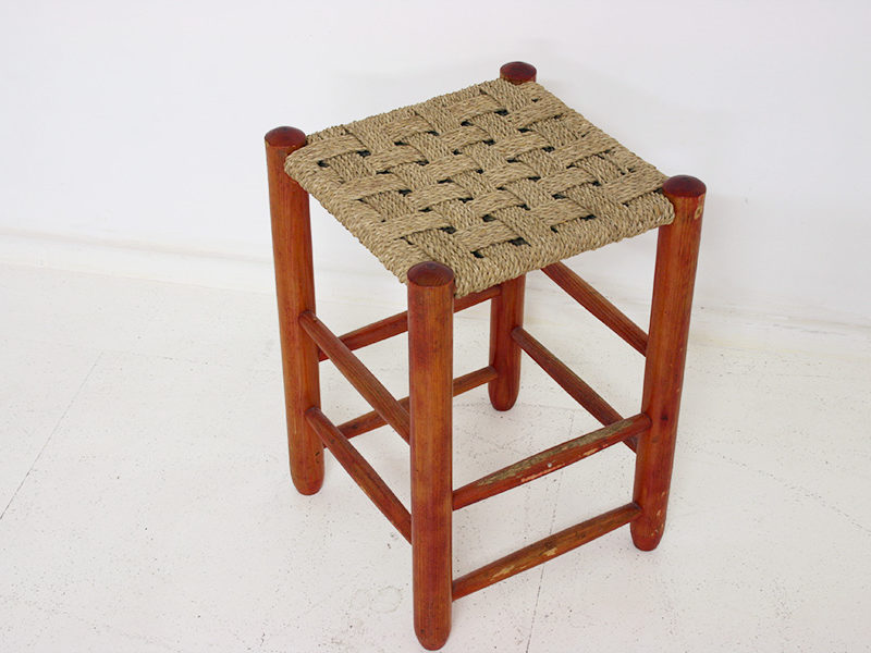 Vintage stool in the style of Charlotte Perriand