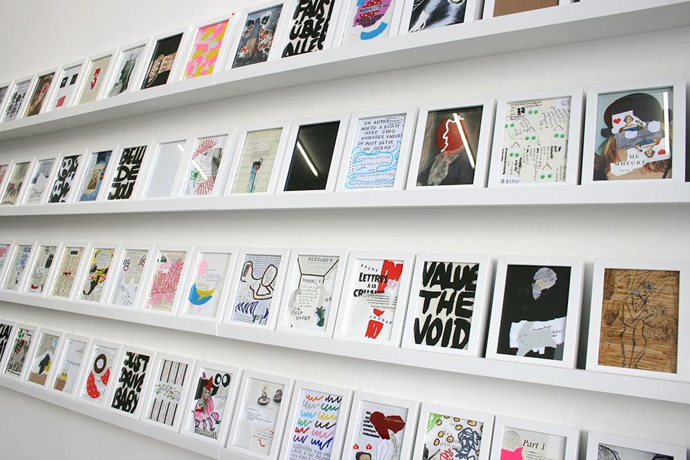 Vue de l'exposition, Outside The Story, Flynn Maria Bergmann, Galerie Kissthedesign