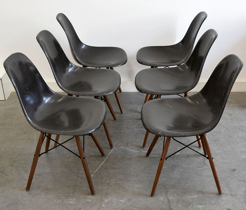 Suite de 6 chaises DSW, Charles & Ray Eames, Herman Miller