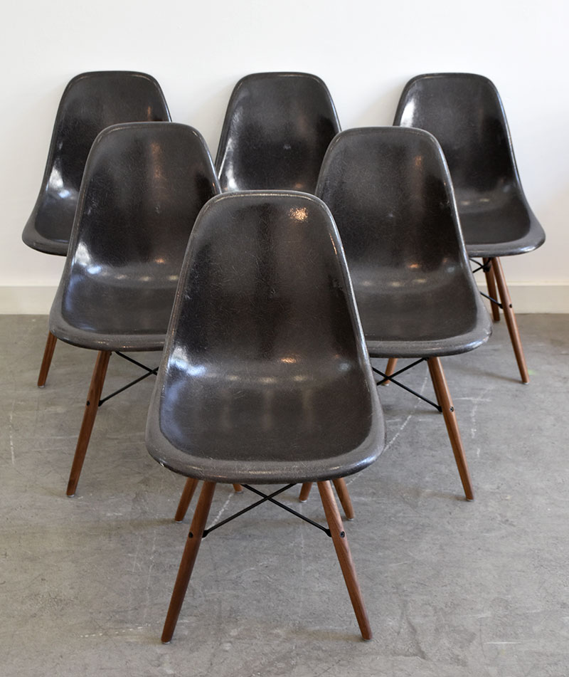 6 chaises dsw eames herman miller lausanne suisse. Black Bedroom Furniture Sets. Home Design Ideas