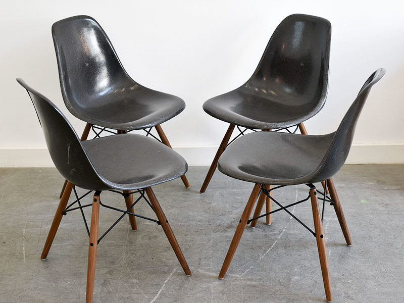 Set of 6 DSW chairs, Charles & Ray Eames, Herman Miller
