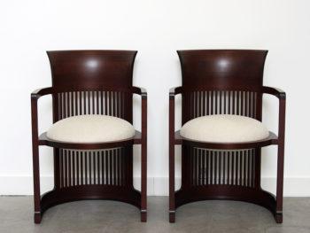 Sesselpaar 606 Barrel Chair, Frank Lloyd Wright, Cassina