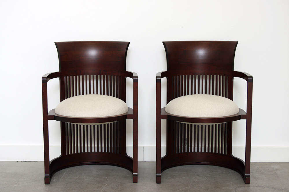 frank lloyd wright barrel chair cassina 20th century modern. Black Bedroom Furniture Sets. Home Design Ideas
