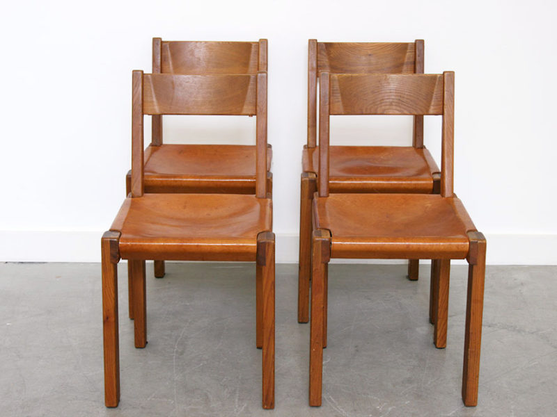 4 S24 chairs, Pierre Chapo