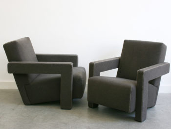 Pair of Utrecht armchairs, Gerrit T. Rietveld, Cassina