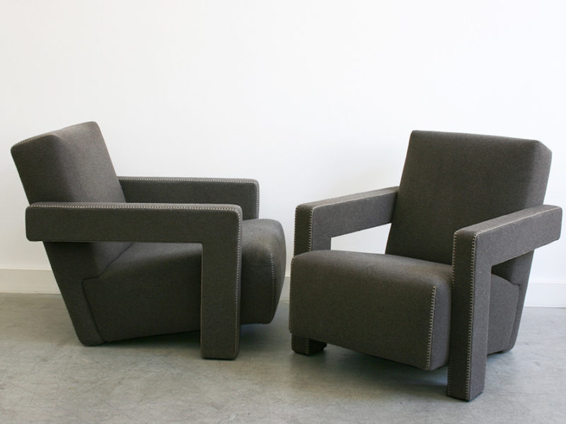 Pair of Utrecht armchairs, Gerrit T. Rietveld, Cassina