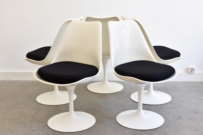 5 chaises tulipe, Eero Saarinen, Knoll