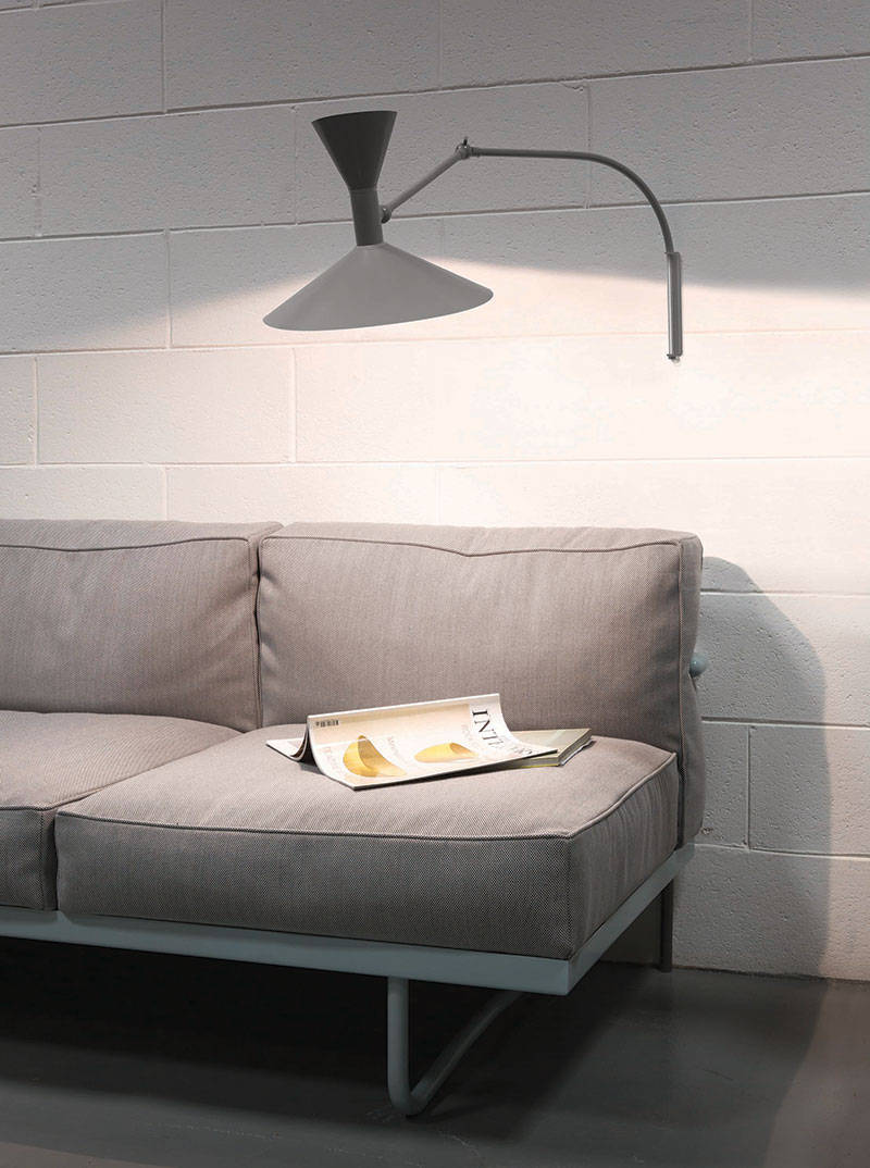 Lampe de Marseille Mini, matt grey, Le Corbusier, Nemo