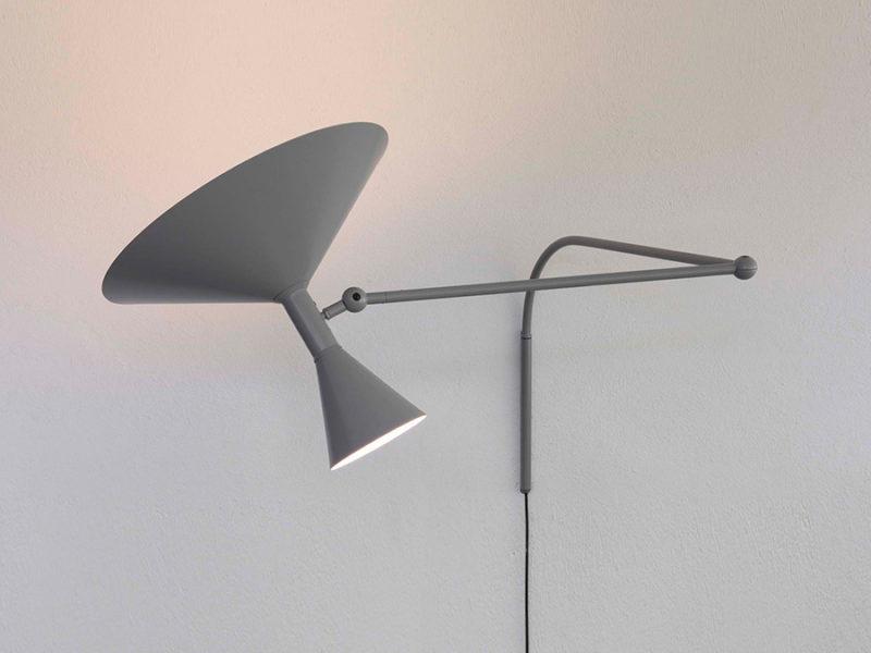 Lampe de Marseille, matt grey, Le Corbusier, Nemo