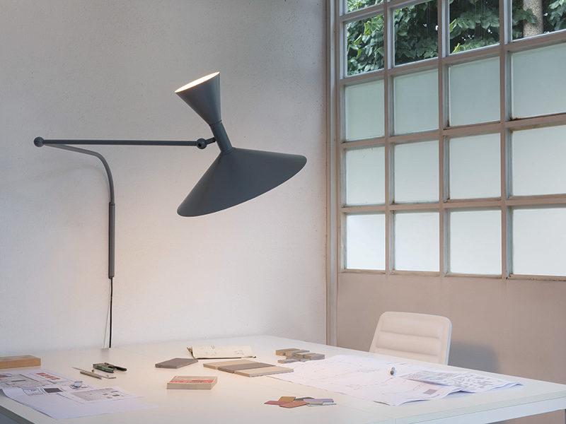 Lampe de Marseille, gris, Le Corbusier, Nemo