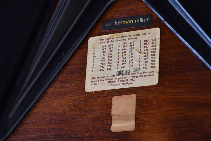 Herman Miller tag and labels