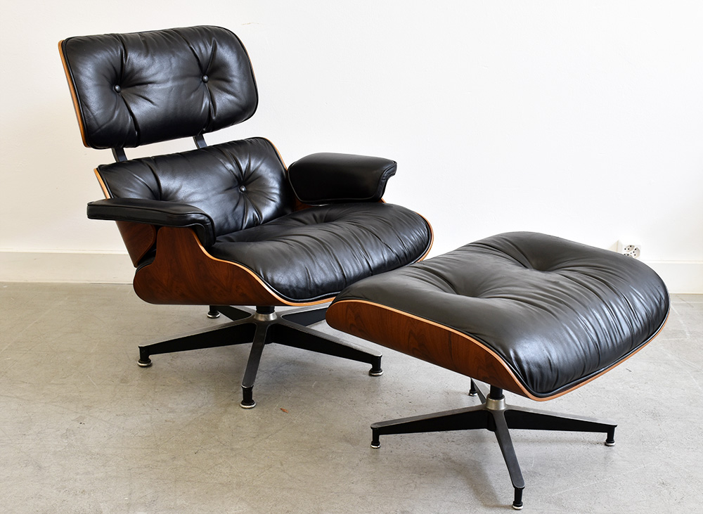 lounge chair ottoman eames herman miller mid. Black Bedroom Furniture Sets. Home Design Ideas