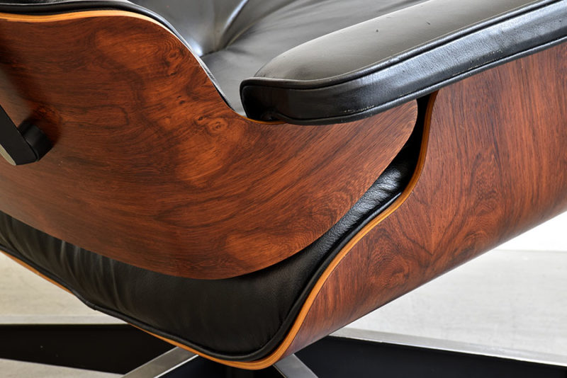 Brasilianischer Palisanderholz. Lounge chair & ottoman, Charles & Ray Eames, Herman Miller