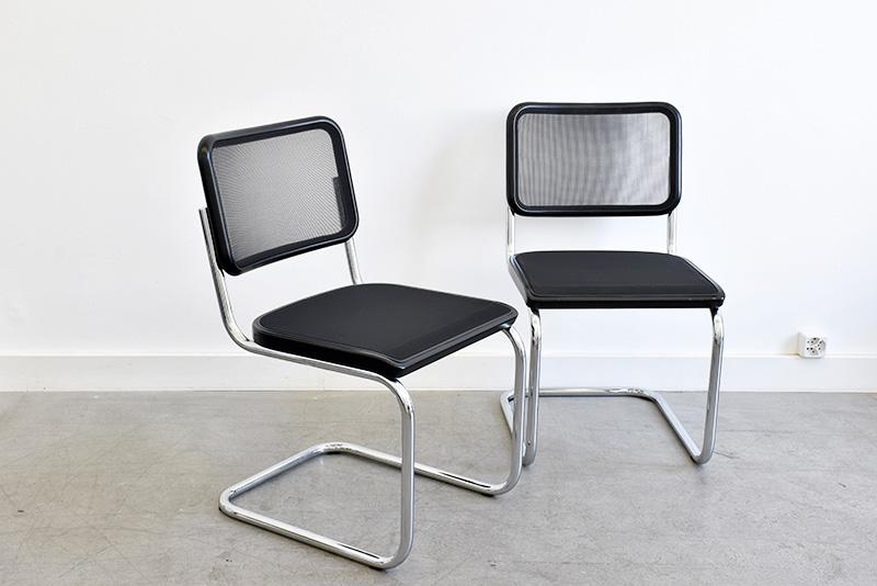 Marcel breuer 4 chaises s32n thonet vintage lausanne suisse - Chaise design suisse ...