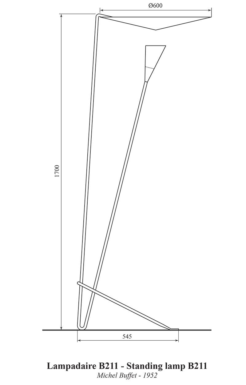 Lampadaire B211, Michel Buffet, Lignes de démarcation