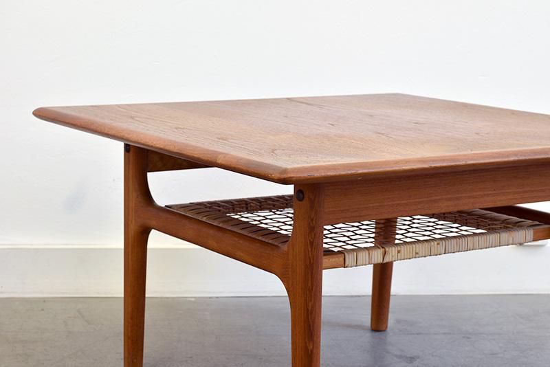 Table basse vintage en teck, design danois, Trioh
