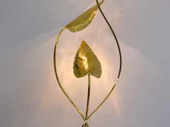 Leaf floor lamp, Tommaso Barbi, 1970.