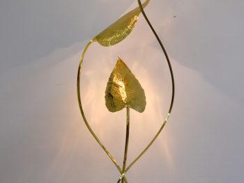 Stehleuchte Blätter, Tommaso Barbi, 1970.
