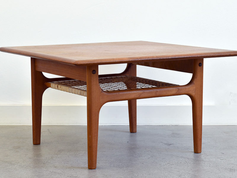 Vintage teak coffee table, Danish design, Trioh