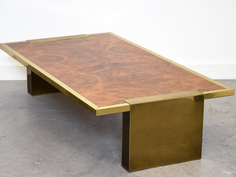Large coffee table, Italian design, 1970