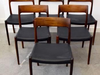 6 chaises 77, Niels Møller, J.L. Moller