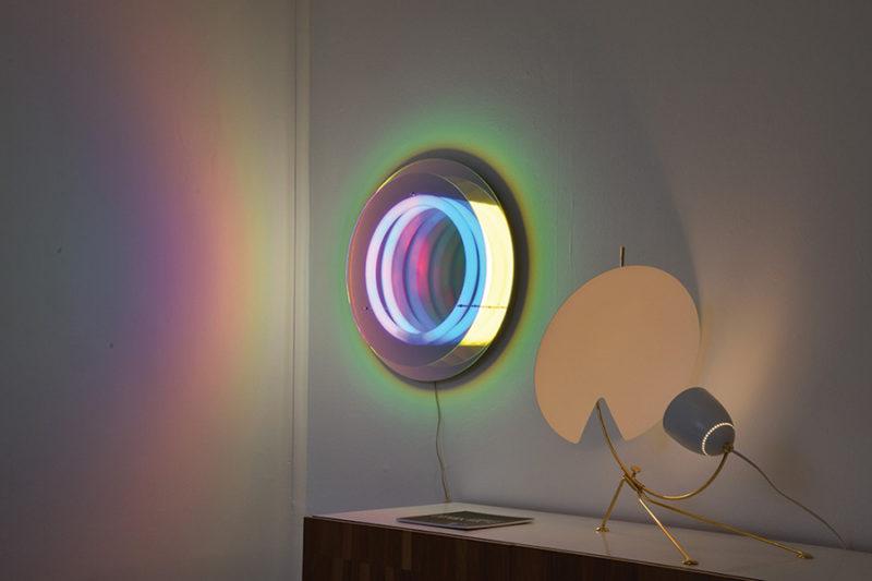 Mirror lamp Ô Abyss, Boris Dennler