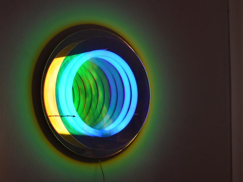 Miroir / lampe Ô Abyss, Boris Dennler, 2016