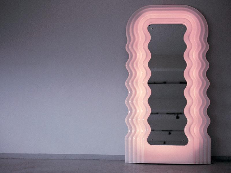 Ultrafragola mirror, Ettore Sottsass, Poltronova