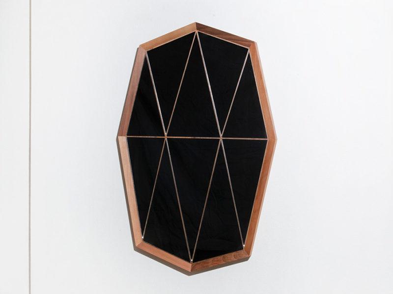 Miroir Walnut Groove, Boris Dennler, 2014