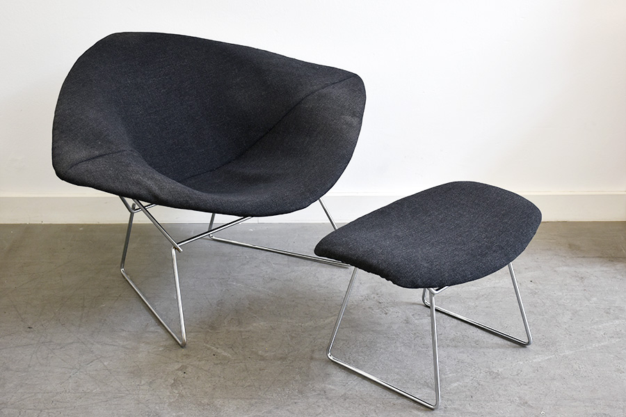 Big Diamond chair and ottoman, Harry Bertoia, Knoll, 1952