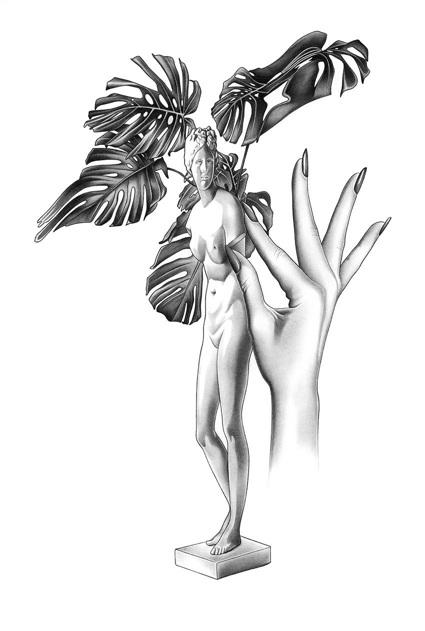 Dessin, Venus III, Jennifer Santschy, 2017